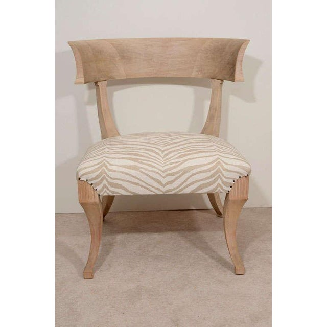 Pair of Sun-Bleached Klismos Chairs - Image 3 of 8
