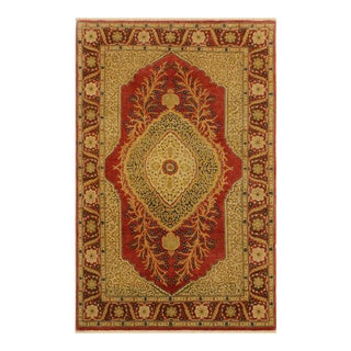 Istanbul Jenifer Pink/Rust Turkish Hand-Knotted Rug -4'2 X 6'1 For Sale
