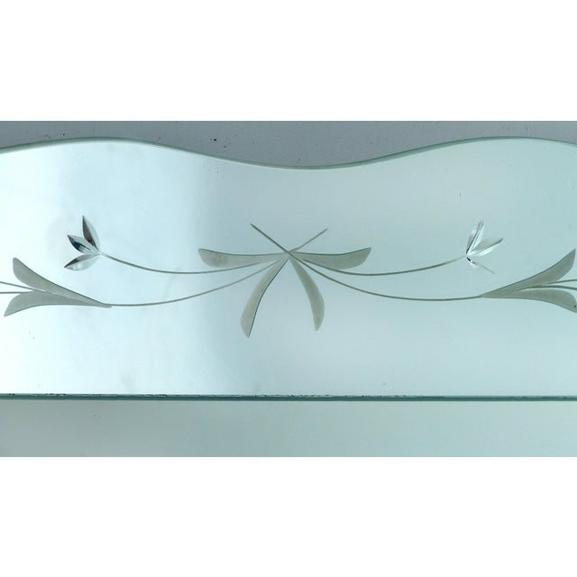 1940s 1940's Floral Cut Scalloped Mirror For Sale - Image 5 of 7