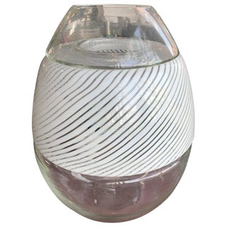 Large Swirled Glass Egg Lamp and Vase by Vetri Murano, Italy, 1970s For Sale