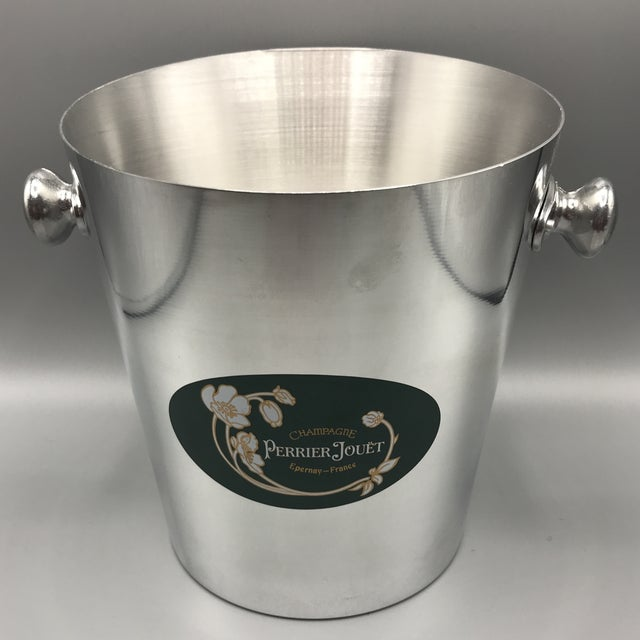Vintage Perrier Jouet Epernay-France Polished Aluminum Presentation Champagne Bucket For Sale - Image 13 of 13