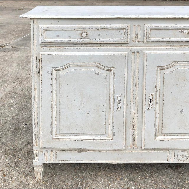 Late 18th Century 18th Century Country French Louis XVI Painted Buffet For Sale - Image 5 of 13