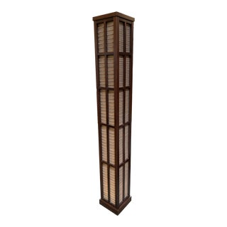 Custom Japanese Style Grasscloth Floor Lamp For Sale