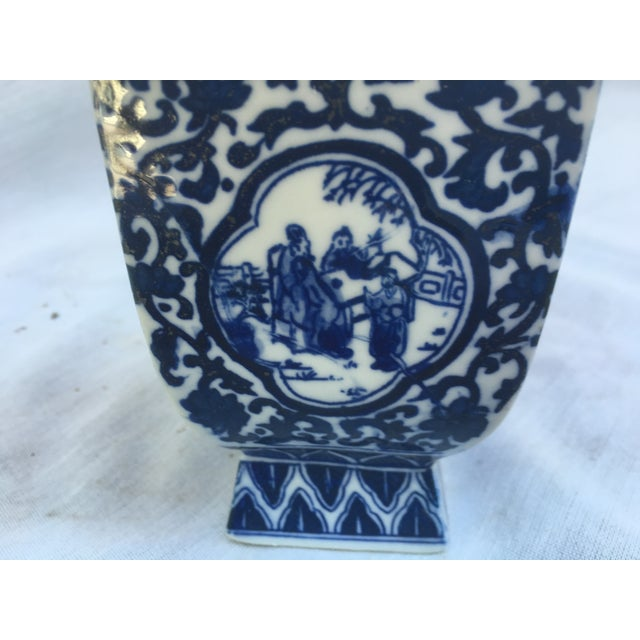 Blue & White Lidded Pagoda Vases - A Pair - Image 5 of 9