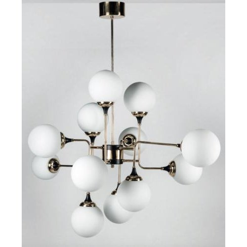 Contemporary Stilnovo Chandelier Serie S5050 - 1959 Sospensione 8 Luci / 12 Luci For Sale - Image 3 of 3