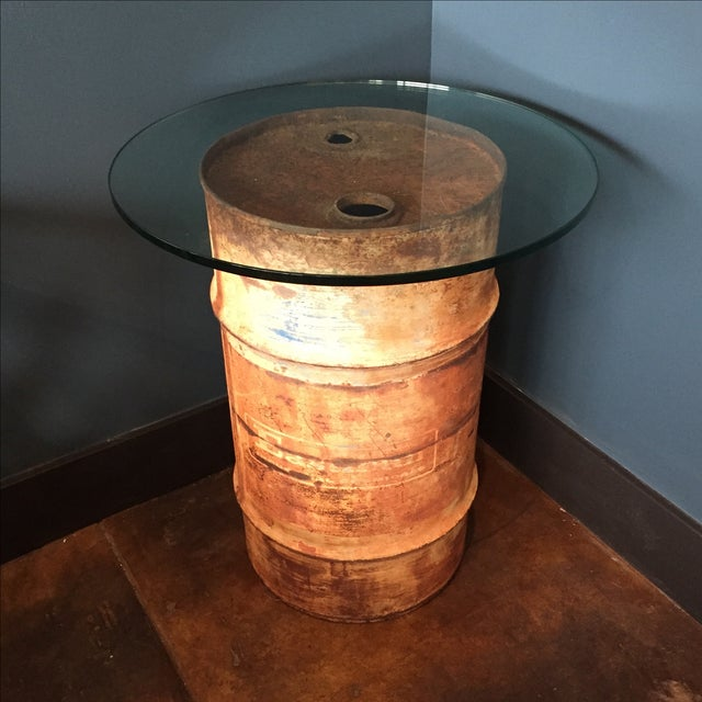 Oil Drum Table - Image 2 of 9
