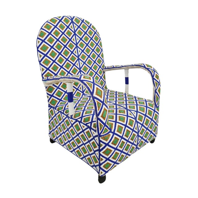 Yoruba Beaded Chair For Sale