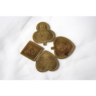Victorian Brass Card Game Coin Tokens - Set of 4 Preview