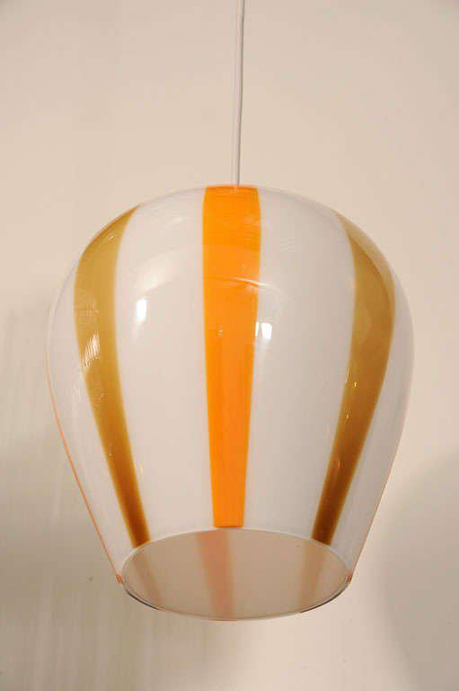 Venini Blown Glass Globe Pendant Light - Image 5 of 8  sc 1 st  Decaso & Lovely Venini Blown Glass Globe Pendant Light | DECASO