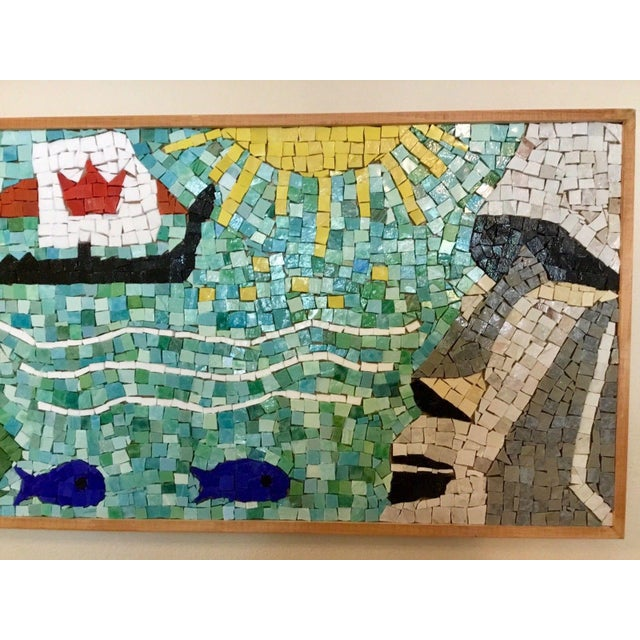 Blue Easter Island Mosaic For Sale - Image 8 of 8