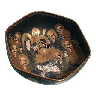 19th Century Japanese Satsuma Scholar Bowl For Sale