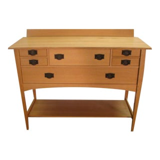 1990s Stickley Mission Oak Arts and Crafts Style Sideboard For Sale