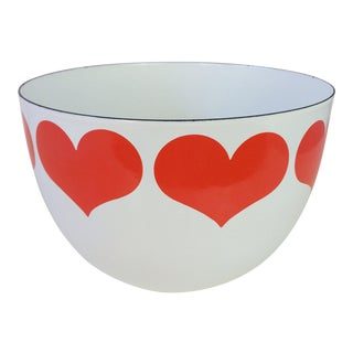 Kaj Franck Heart Enamel Bowl by Finel Arabia For Sale