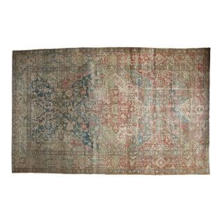 "Vintage Distressed Heriz Carpet - 10'4"" X 16'6"" For Sale"