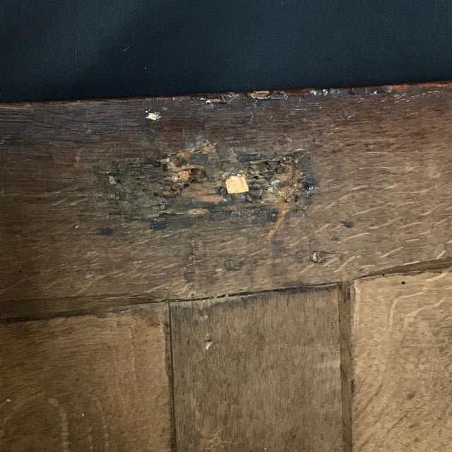 Wood Antique 18th Century Paneled and Carved Scottish Coffer Chest For Sale - Image 7 of 13
