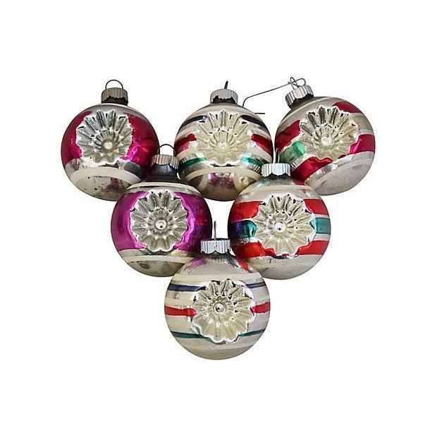 boho chic 1960s mid century retro christmas ornaments wbox set of 12