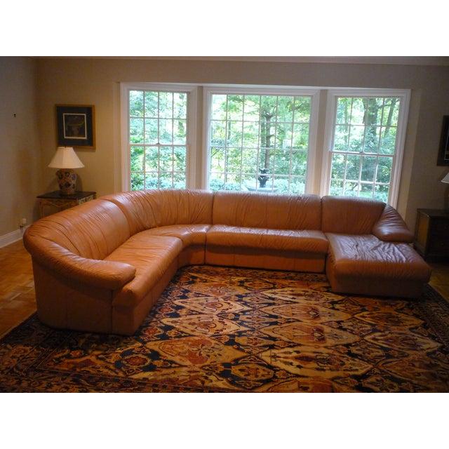 Sarlotti Natuzzi Leather Sectional Sofa - Image 4 of 7