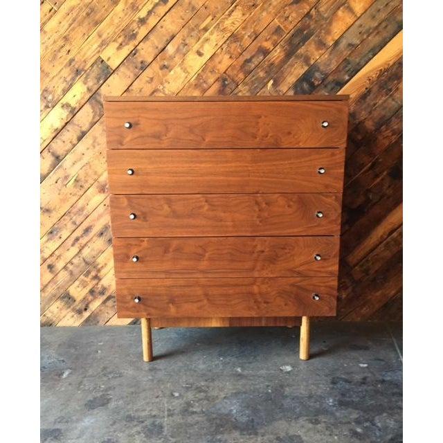 Vintage Stanley Walnut Highboy Dresser - Image 2 of 8