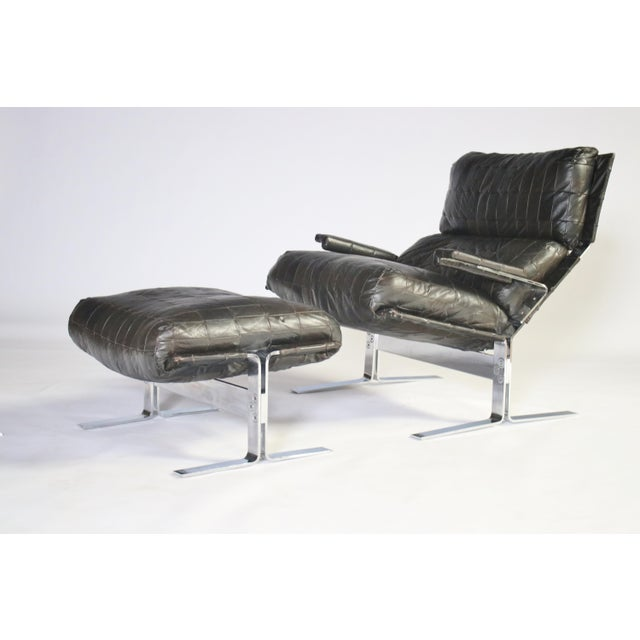 Richard Hersberger for Saporiti Lounge Chair and Ottoman For Sale - Image 9 of 12