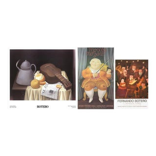 Bundle- 3 Assorted Fernando Botero Musicians & Musical Instruments Posters For Sale