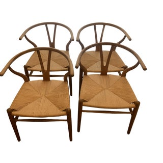 1980s Vintage Wishbone Chairs- Set of 4 For Sale