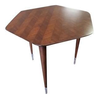 Henredon Furniture David Kleinberg Dillow Mahogany Hexagon End Table For Sale