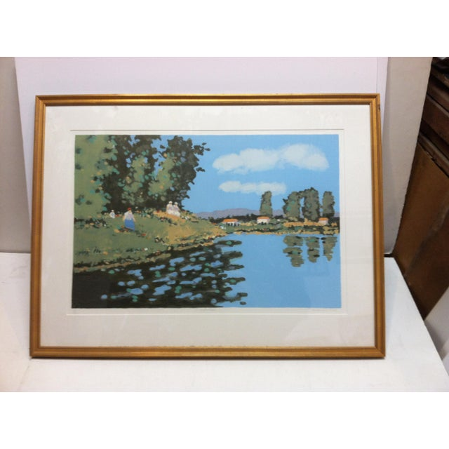 "This is a Framed and Matted Limited Edition Signed and Numbered (87/250) Print that is titled ""Reflections"" by Frederick..."