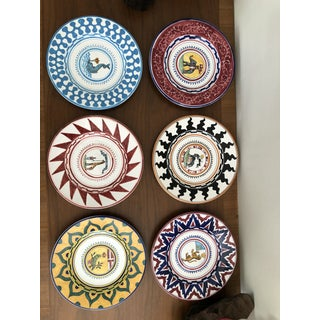Italian Hand Painted Sienese Ceramic Palio Dish Set - Set of 31 Preview
