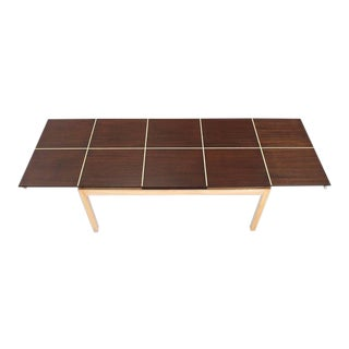 Tommy Parzinger Dining Table With Two Leaves For Sale