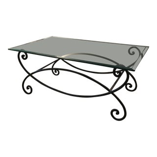 1920s Vintage French Iron Coffee Table