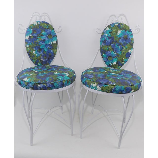 Mid-Century Modern Wrought Iron Patio Chairs - A Pair - Image 2 of 10