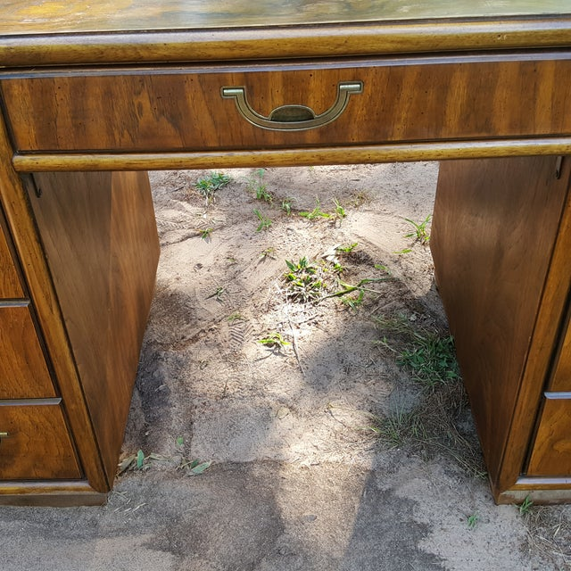1960s Drexel Campaign Style Desk - Image 6 of 10