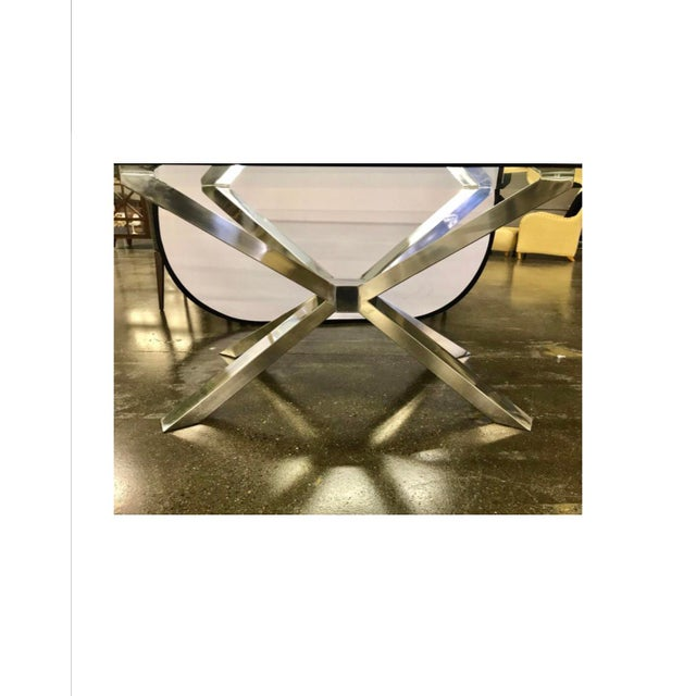 Calligaris Glass and Chrome Dining Table and 4 Calligaris Chairs Set For Sale - Image 4 of 13