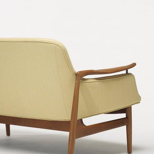 Danish Modern Finn Juhl Settee for Niels Vodder For Sale - Image 3 of 5