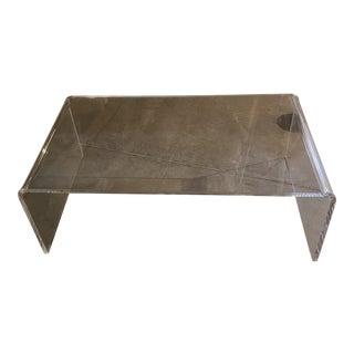Cb2 Peekaboo Acrylic Tall Coffee Table For Sale