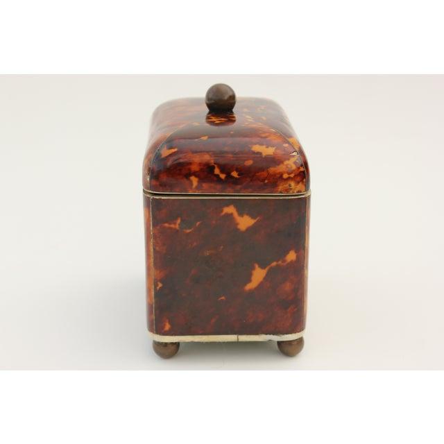 Antique Georgian Tortoiseshell Tea Caddy - Image 7 of 8