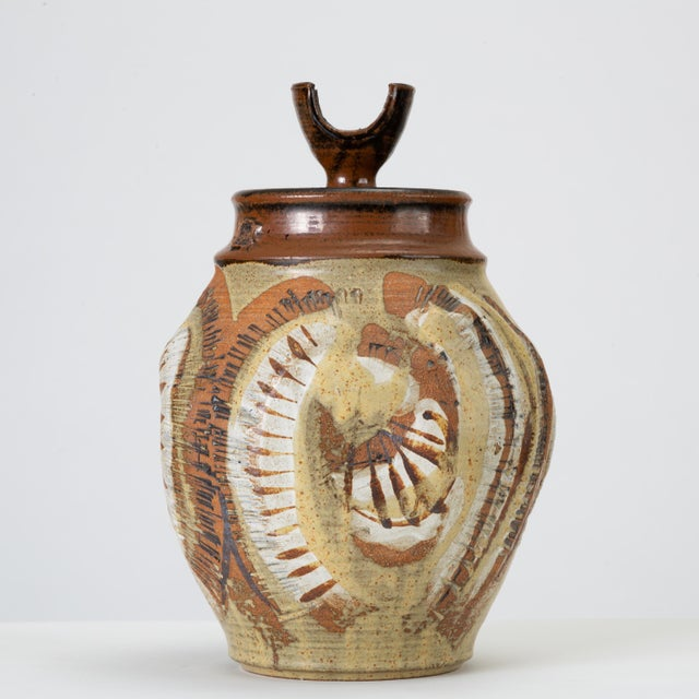 California Modern Large Studio Pottery Jar With Lid by Don Jennings For Sale - Image 13 of 13