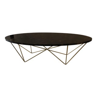 Tortoise Shell Gloss Top Coffee Table For Sale