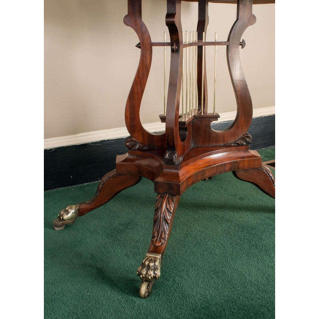 Federal Cross-Lyre Card Table For Sale - Image 4 of 10