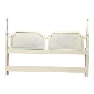Lacquered Cream Drexel King Headboard For Sale