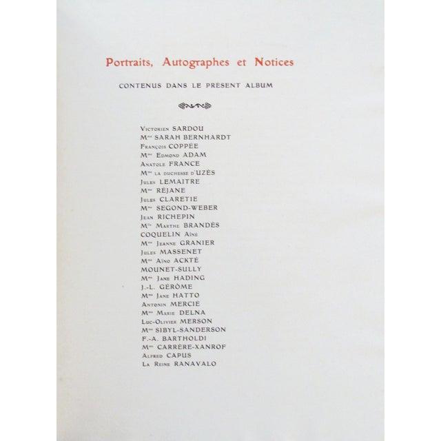 """Art Nouveau 1904 """"Les Contemporains Celebres"""" Book For Sale - Image 3 of 11"""