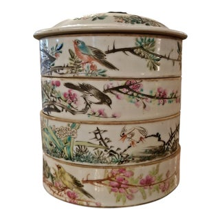 19th Century Tongzhi Dynasty Stackable Bowls With Lid - 4 Pc. For Sale
