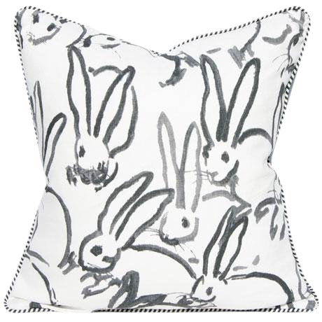 Lee Jofa for Groundworks Bunny Fabric Decorative Pillow For Sale