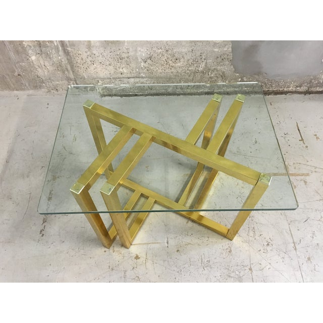 Mid-Century Modern Anodized Aluminum End Table - Image 2 of 7