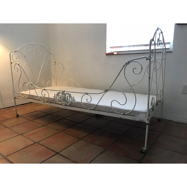 French Antique White Iron Daybed For Sale - Image 10 of 10