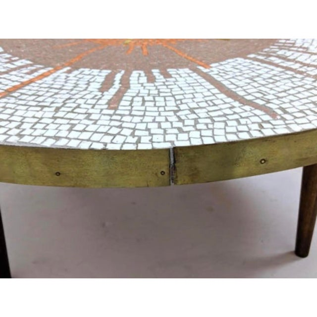 Mid Century Modern Mosaic Coffee Table For Sale In New York - Image 6 of 9