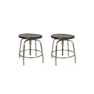 Pair of Deon Wooden Bar Stools For Sale