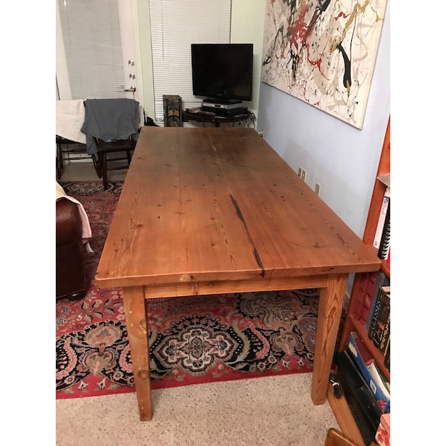 Antique Pine Farm French Table For Sale - Image 9 of 13