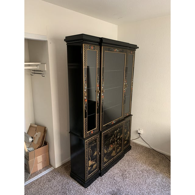 Vintage Mid-Century Asian Display Cabinet For Sale - Image 4 of 9
