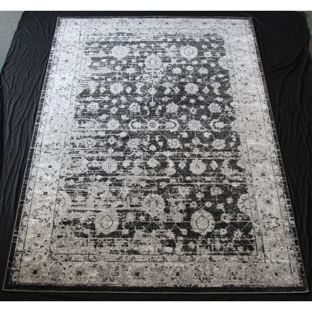 "Vintage Style Distressed Gray Rug- 5'3"" x 7'7"" - Image 2 of 5"